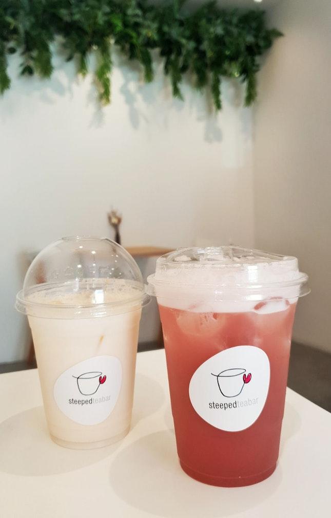 Grape Tea $6.60 And Melon Latte $6.30