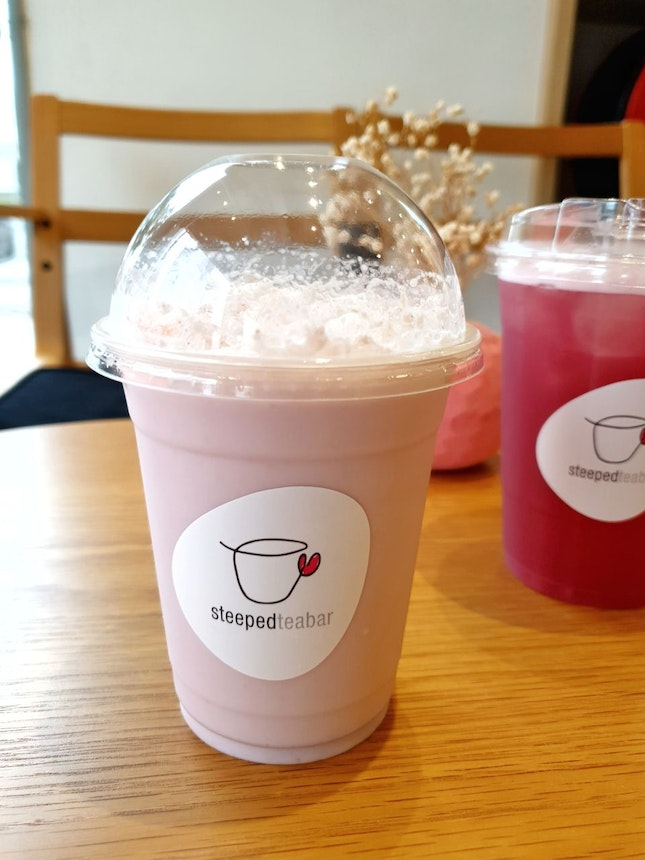 Lychee Rose Latte $6.60 And Grape Oolong $6.60