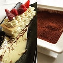 Desserts - #tiramisu and #whitechocolate mousse #whati8today #sgfoodie #burpple