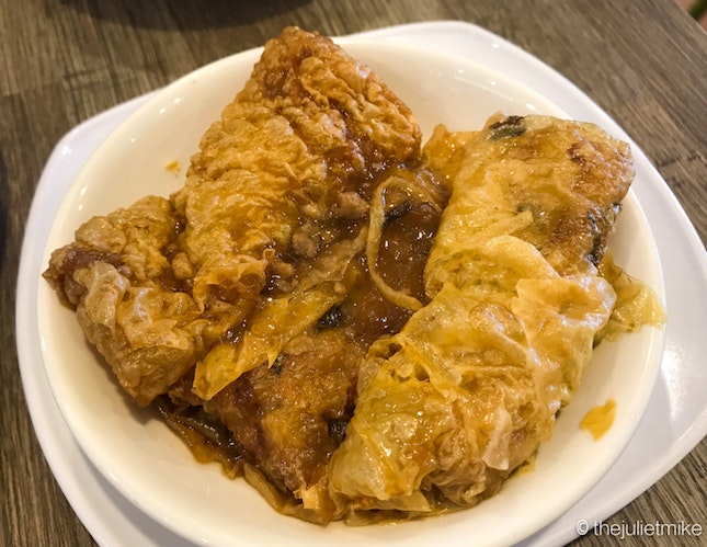 Beancurd Roll With Oyster Sauce