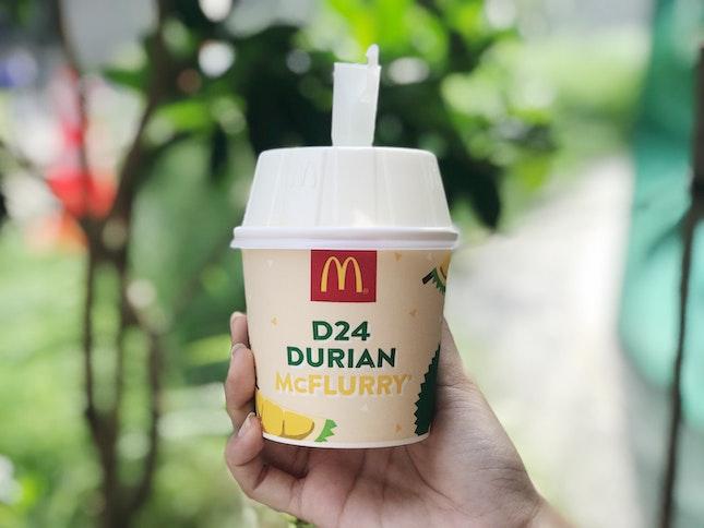 McDonald's D24 Durian McFlurry