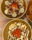 Aburi Scallop Salmon & Special Salmon Don