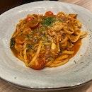 Crabmeat Pasta (Tomato Base)