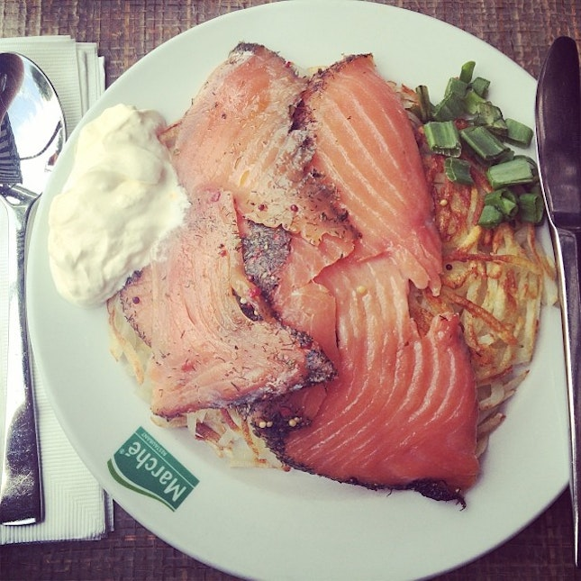#salmon #rosti #marche #vivo #treat #lunch #burpple #blessed happy belated bday to me haha!