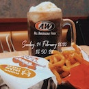 A&W Cream Cheese Beef Burger Combo