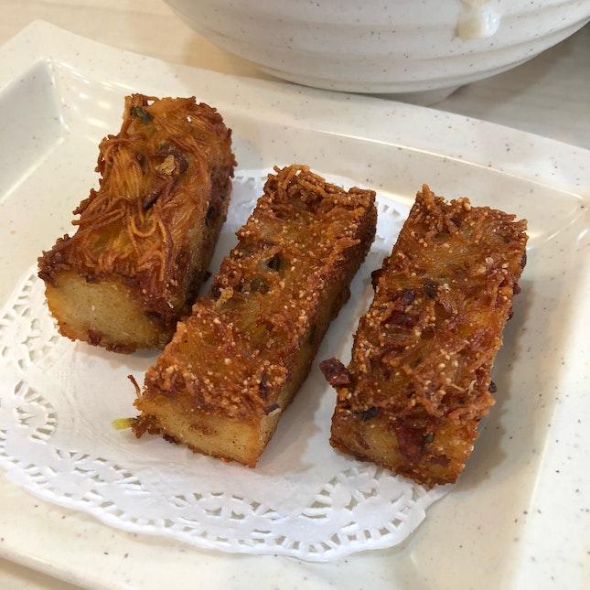 Crispy Mee Sua Kueh With Chinese Sausage [~$3-$4]