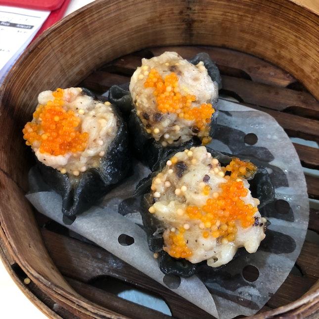 Charcoal Chicken And Shrimp Dumpling [$3-$4]