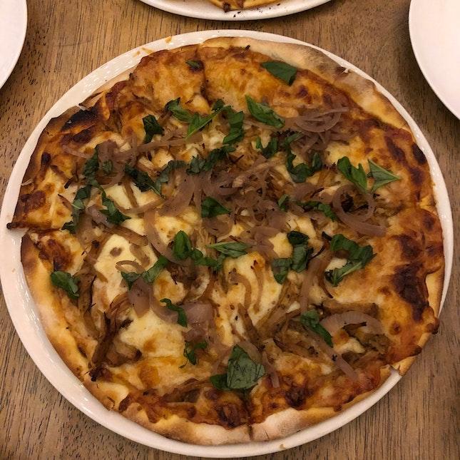 Bourbon Pulled Pork Pizza [$26++]
