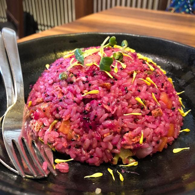 Dragonfruit Fried Rice [$10.80++]