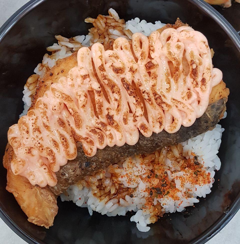 Salmon mentai don!