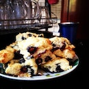 Blueberry cream scones for afternoon tea!