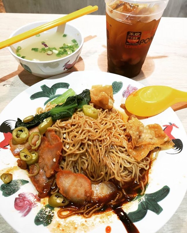 Late Dinner - #pontianwantonnoodles #sgfood #sgeat #hungrygowhere #instag #instagfood #foodpic #burpple #sgcafe #whati8tdy #grabfood