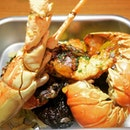 Pacific Lobster, ocean prawn served with black rice and seasoned cabbage- truly satisfying!