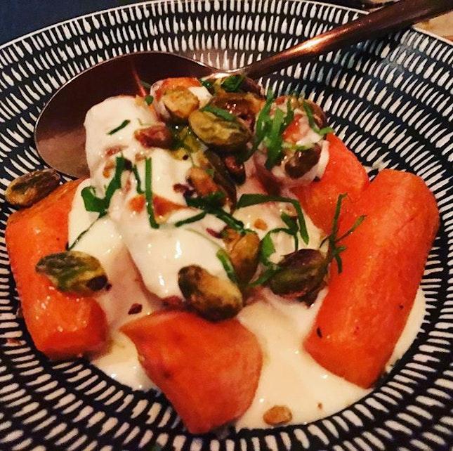 Wood roasted carrot with garlic yoghurt  #lavzfood #lavzdining #lavzdiningexperience #diningsg #foodies #foodreviewSg #foodspotting #foodlovers #foodporn #foodreviewsasia #yummy #foodie #realfood #sgeats #foodpix #nofilter #citynomads #sgrestaurants #sgdining #sgfoodlover  #sgfoodies #sgfoodfinder #openricesg #burpple #instagood #foodstagram #foodgasm #sgeats #mediterraneanfood #vegetarianfood