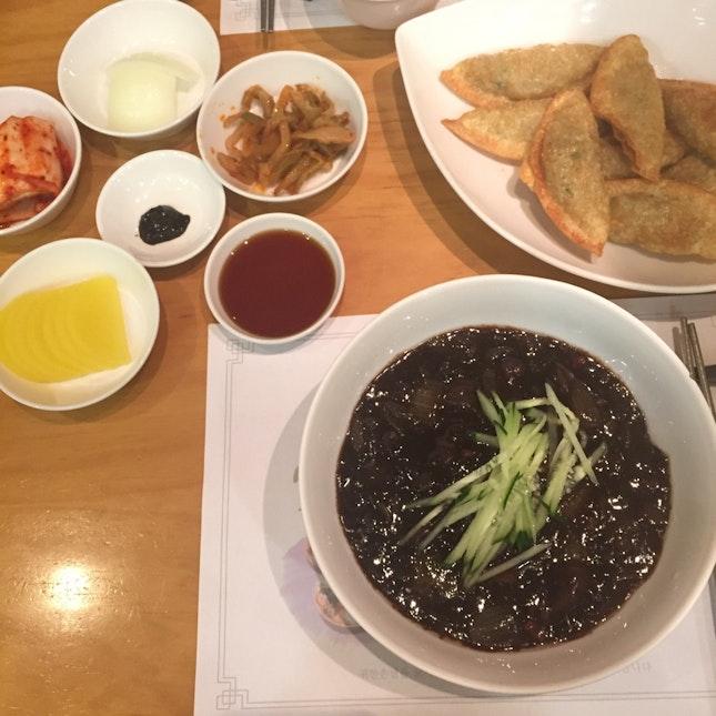 Jajangmyeon & Fried Mandu