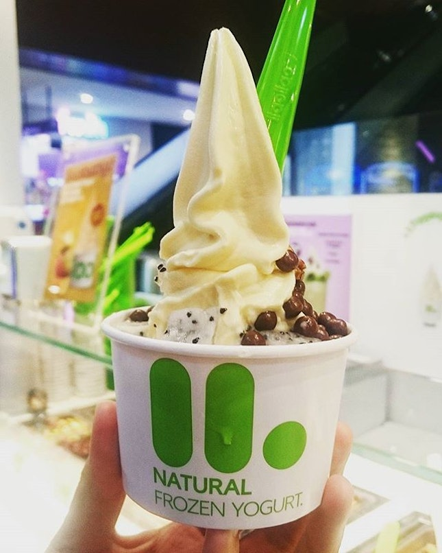 Medium-sized llaollao with 3 toppings ($5.90)  Long time no llaollao!