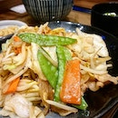 Yasai Itame Teishoku ($10.90)  Stir-fried veggies and sliced pork in sweet and salty sauce 😋  I love that the veggies are cooked 'al-dente' and still maintain its crunchiness!