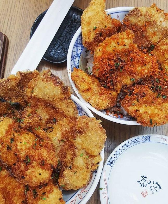 Decent Hana Katsudon ($13.50) consisting of chicken and pork.