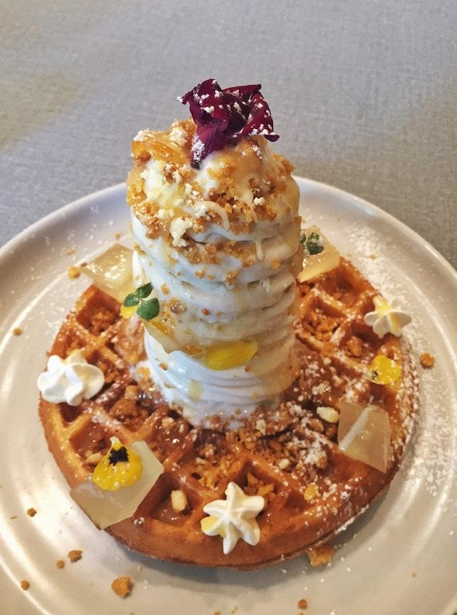 Lemon & White Chocolate Sundae on Waffle ($14
