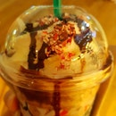 Ice blended peppermint mocha frapuccino ~ green and gold card holder 15% discount ends tonight 2359!
