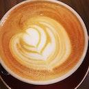 Hot latte ~ simple art!