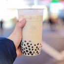 Milk Tea w Pearls ($1.60)