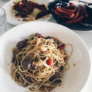 #throwback beef aglio olio- one of the cheapest yet scrunchy sunday meal.
