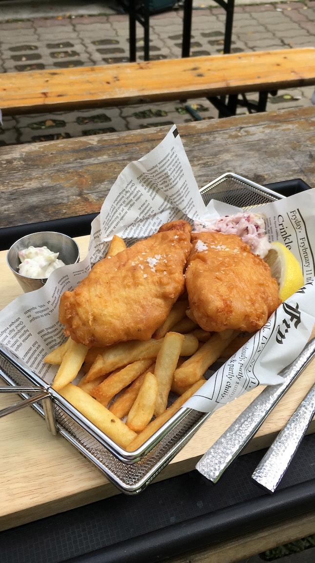 Royal Caravan's Fish & Chips meals start from $5.90 (varies per fish).