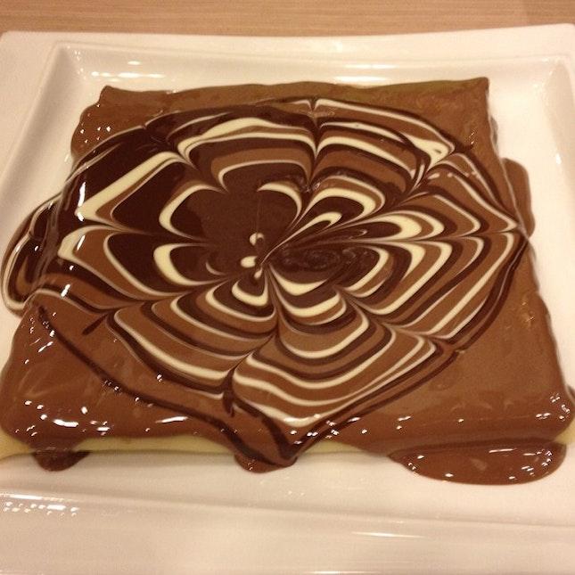 #chocolate#crepe#supper#fat#iamsofat#haha