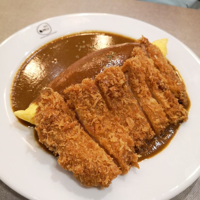 Curry Omu With Chicken Cutlet