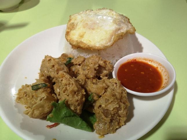 Salted Egg Chicken W Rice