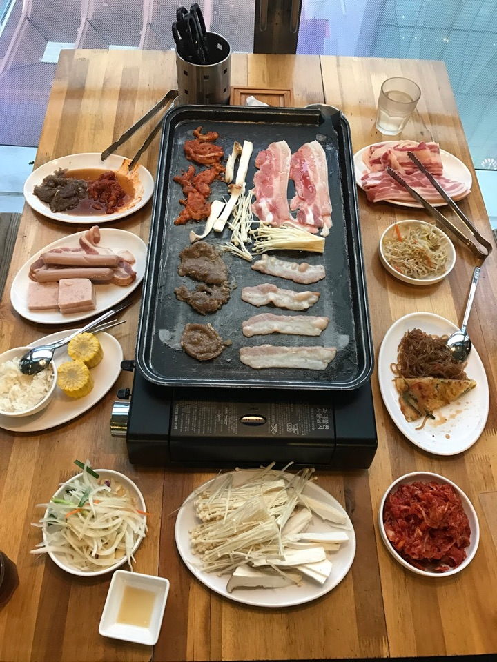 Korean BBQ with a view!