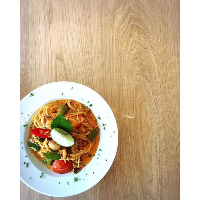 Tom Yum Pasta [$10] • Caffe Pralet • A word of caution, not for the faint-hearted.