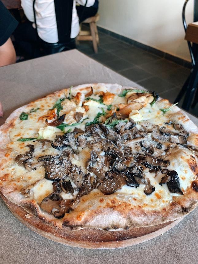 Half And Half Pizza