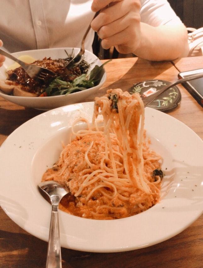 very nice granchio pasta ($20)