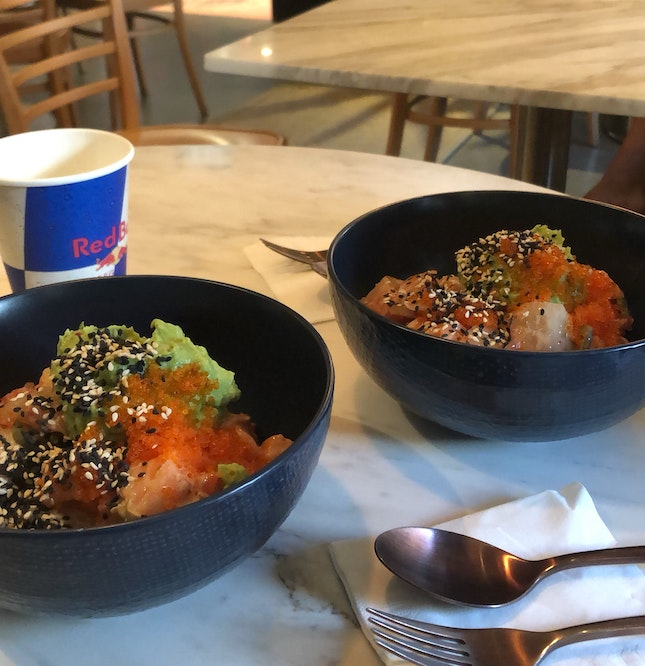 awesome salmon bowls ($14)