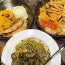 Shrimp and Clams Aglio Olio