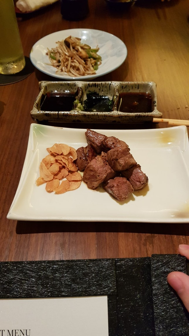 wagyu beef cubes