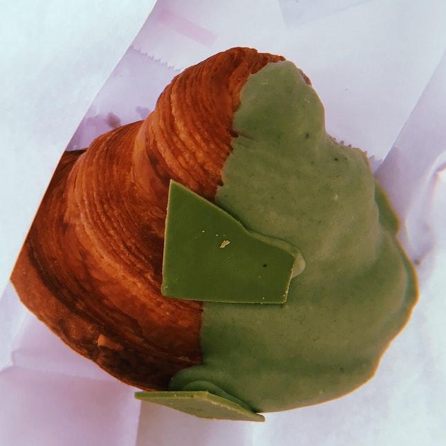 Matcha White Chocolate Croissant