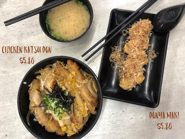 Chicken Katsu Don & Donya Maki
