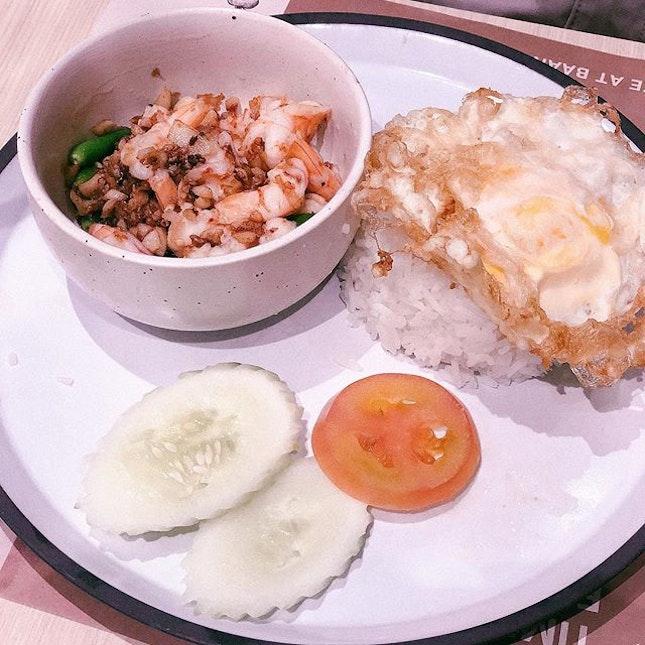 Thai Basil Pork Set ($25.80) & Signature Stir-fry Garlic and Shrimp ($28.80) • Came here for #burpplebeyond the food was very good, especially the shrimp!