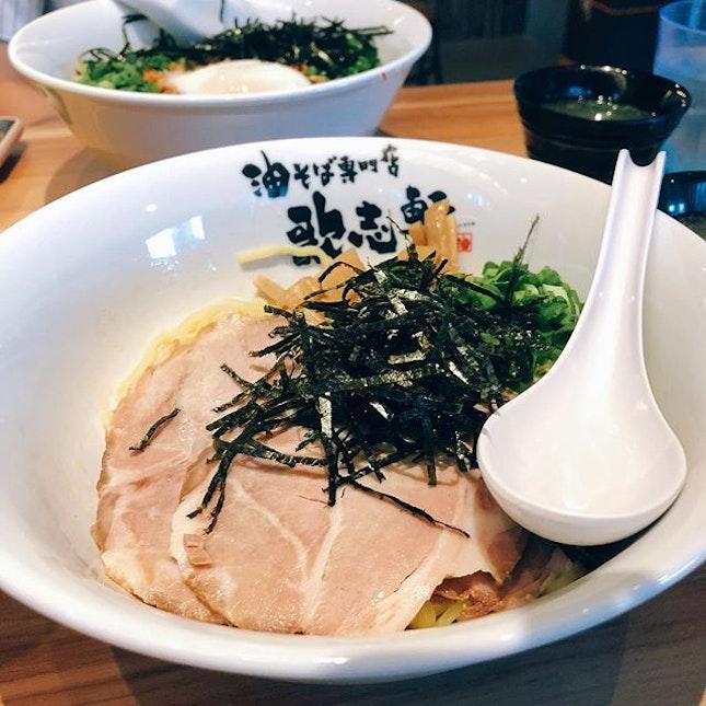 Mazesoba with Charsiew ($12.80) • still suggest you eat the Mazesoba Nagoya Style.
