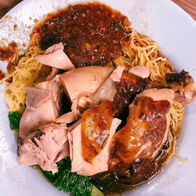 Sheng Ji Wanton Mee / Soya Sauce Chicken ($3-4) • One of the best soya chicken I've tried!