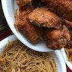 Fried Bee Hoon w/ Chicken Wings