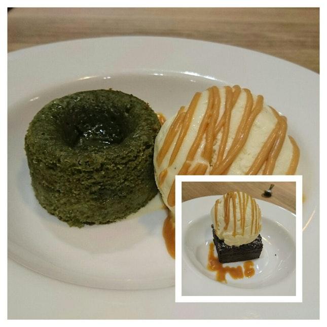 The Best Macha Lava Cake