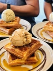 Waffles + Ice Cream