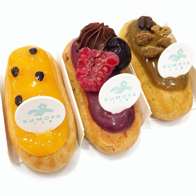 Passionfruit, Black Forest, Coffee Eclairs ☻☻☻☻☻☻☻☻☻☻ The newly opened Kumoya is a revamp from the now defunct Karafuku.