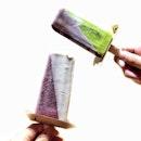 Matcha Popsicle and Raspberry Sorbet ☻☻☻☻☻☻☻☻☻☻ Always needing something chilled.