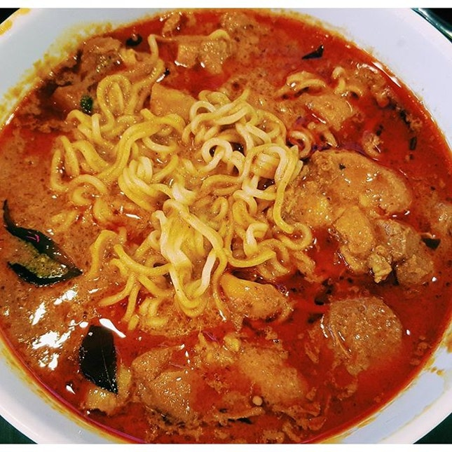 This is one spicy curry noodle!
