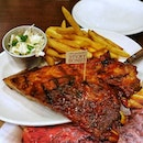 Hickory BBQ ribs @ Morganfields.